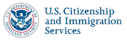 U.S. Department of Homeland Security (DHS); U.S. Citizenship and Immigration Services (USCIS) Logo