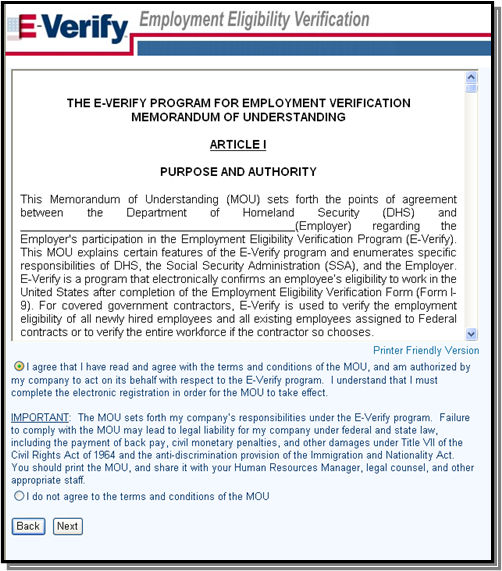 E Verify Program >> Quick Reference Guide For E Verify Enrollment