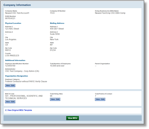 Company Info page View/Edit Totaly Hiring Sites