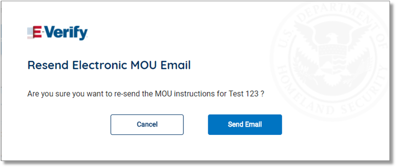 Screenshot of Resend Electronic MOU Email